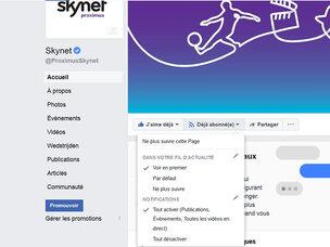 Comment ne rien manquer du contenu Skynet sur Facebook ?
