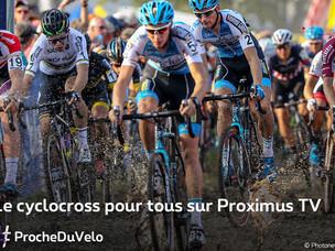 Après le Superprestige, la Telenet UCI Cyclo-cross World Cup sur Proximus TV