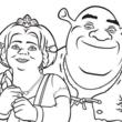 Kleur met Fiona en Shrek