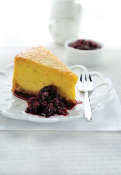 Pompoencheesecake met vanille en rum - Graham en bruine behang ...