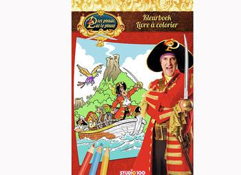 Gagnez un livre à colorier de Pat le pirate avec Studio 100 TV !