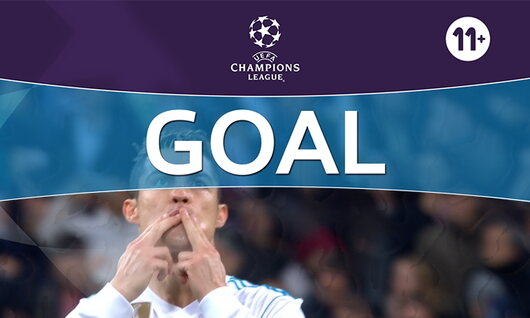 Penalty: Real Madrid 1 - 1 Paris SG: 45', Ronaldo