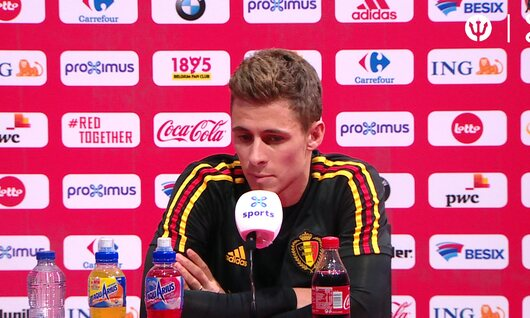 Persconferentie: Thorgan Hazard.