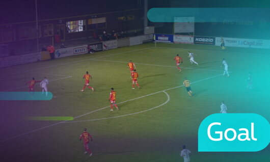 Goal: AFC Tubize 0 - 2 Malines : 45', Storm