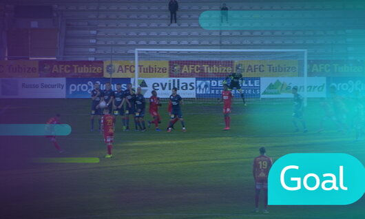 Penalty: AFC Tubize 1 - 1 Roulers, 53' Videmont