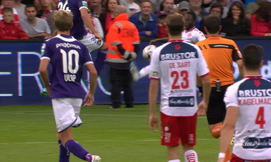 Penalty: Courtrai 1 - 1 Anderlecht 53', Mboyo