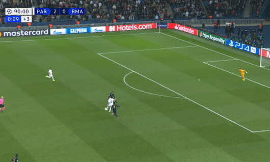Goal: Paris SG 3 - 0 Real Madrid 90', Meunier
