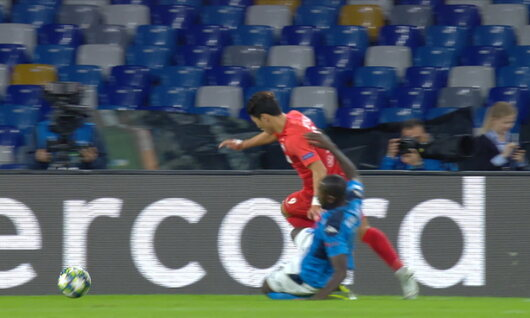 Penalty: Naples 0 - 1 Red Bull Salzbourg 11', Haaland