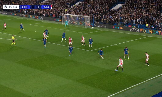 Goal: Chelsea 1 - 2 AFC Ajax 20', Promes