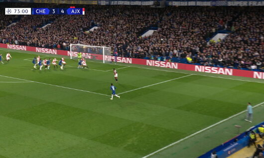 Goal: Chelsea 4 - 4 Ajax Amsterdam 74', James