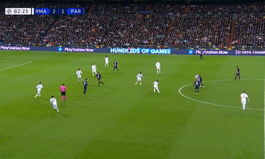 Goal: Real Madrid 2 - 2 Paris SG 83', Sarabia