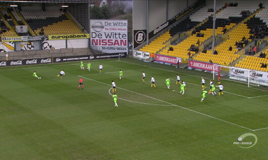 Goal: Lokeren 0 - 1 RE Virton 23', da Cruz