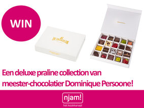 Njam! trakteert: win een deluxe praline collection van topchocolatier Dominique Persoone