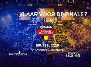 Koop nu al je tickets voor finals ESL Proximus Championships