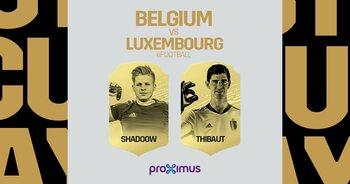 ShadooW en Thibaut Courtois vertegenwoordigen België tegen Luxemburg op FIFA 20