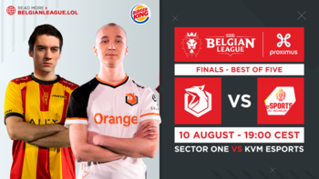 Finale Belgian League : KVM Esports renversera-t-il le champion Sector One ?