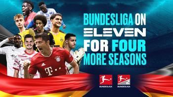De Bundesliga vier jaar langer op Eleven Sports