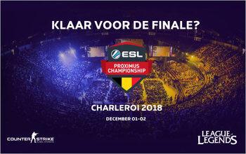 Geniet niet alleen van de wedstrijden maar ook van de animatie tijdens de finales van de ESL Proximus Championships!