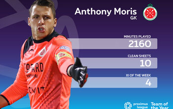Le onze-type de la Proximus League cette saison // GARDIEN // Anthony Moris (RE Virton)