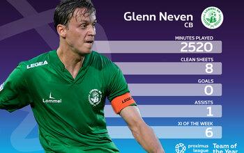 Le onze-type de la Proximus League cette saison // DEFENSEUR CENTRAL (2) // Glenn Neven (Lommel SK)
