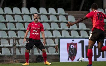 Mikautadze a marqué son sixième but en quatre matches : aucun autre buteur de 1B n'arrive dans ses parages