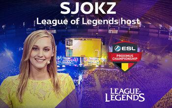 Sjokz : « Je suis très impatiente de présenter les finales des ESL Proximus Championships dans mon pays »
