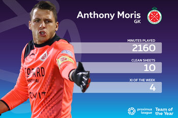 Proximus League XI van het seizoen // DOELMAN // Anthony Moris (RE Virton)