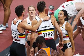 België grijpt naast een podiumplaats op de 4x400 meter gemengde landenteams
