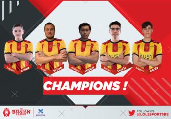 KVM Esports est champion du Spring Split 2021 de la Belgian League