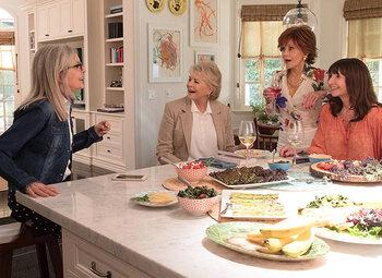Een leuke making-of, met de dames van 'Book Club'!