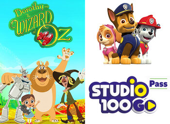 All Kids presenteert … Dorothy en de Tovenaar van Oz, Paw Patrol en een leuk spelletje in de Studio 100 GO Pass!
