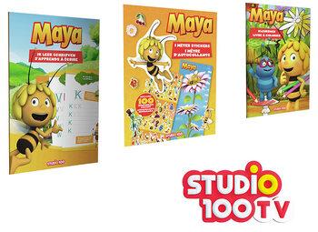 Gagnez un pack Maya l'Abeille comprenant des livres de coloriage, d'écriture et de stickers avec Studio 100 TV