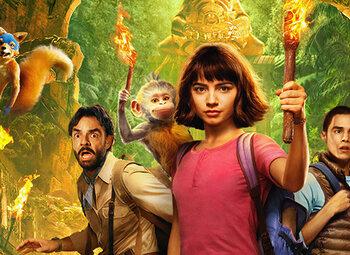 Dora beleeft een spannend avontuur in de op aanvraag-catalogus van Proximus Pickx