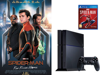 Win een Sony PlayStation 4 en een Marvel's Spider-Man PS4-game, dankzij Spider-Man: Far From Home!