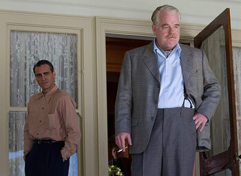 Joaquin Phoenix en Philip Seymour Hoffman schitteren in 'The Master', nu beschikbaar in de Movies & Series Pass