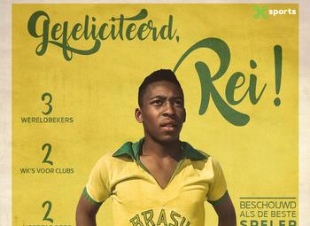 """Pelé's """"mooiste goal"""" die helaas niet op beeld werd vastgelegd"""