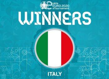L'Italie championne de l'eEuro 2020 sur Pro Evolution Soccer