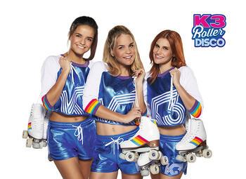 Bekijk het tweede seizoen van K3 Roller Disco in de Studio 100 GO Pass
