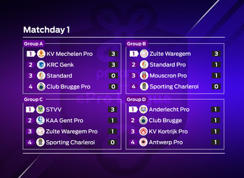 Proximus ePro League Play-offs: speeldag 1