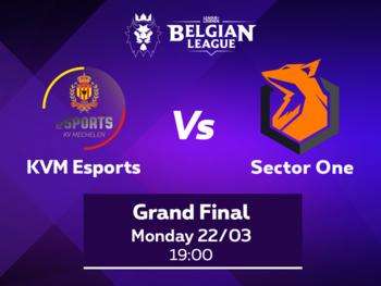 KVM Esports treft Sector One in de finale van de Belgian League