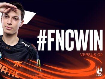 LEC : Fnatic s'impose face à G2 Esports dans le classico