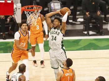 De Milwaukee Bucks op één zege van de NBA-titel