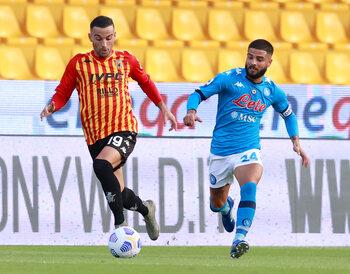 Burenduel tussen Napoli en Benevento levert ook clash der Insigne-broers op