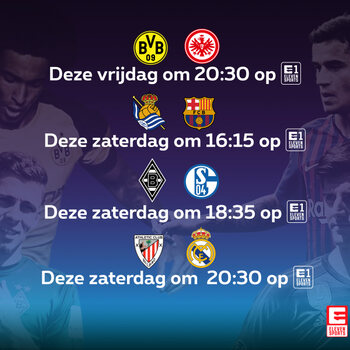 voetbalwedstrijden op Proximus TV