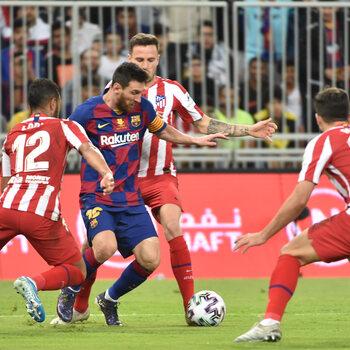 Lionel Messi versus Atlético Madrid