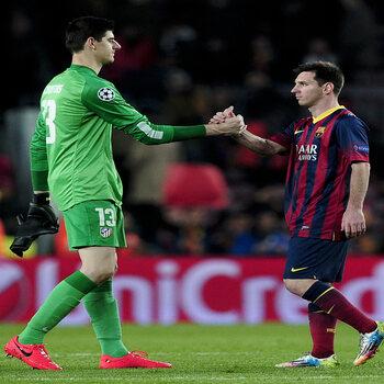 Thibault Courtois en Lionel Messi