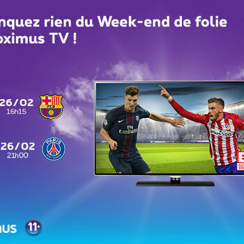 Week-end de folie sur Proximus TV !