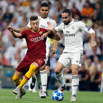 ligue des champions as rome real madrid