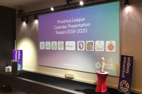 Volledige kalender Proximus League 2019-2020 is bekend