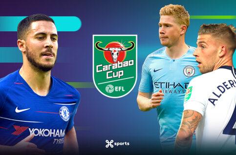 Bekijk de wedstrijden van Chelsea, Tottenham en Manchester City in de League Cup live